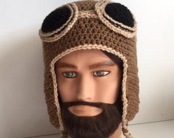 Handmade Aviator Hat toque beanie men women adult teen child kids baby