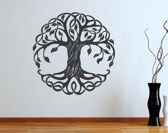 Tree of Life Wall Decal | Wall Art | Mandala Decal | Wall Decor | Living Room Decal | Cultural Symbol wall mural | wall stencil | CE121