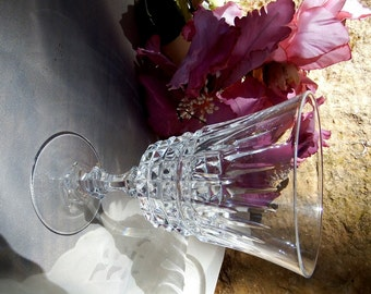 Vintage 1960s Tuilleries-Villandry by Cristal D'Arques-Durand Wine Glass // Set of 5 ea