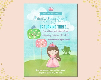 Qty. 25 Princess Birthday Party Invitation Girl Princess Birthday Party Invitation Girl Party Birthday Invitations Princess Party Invitation
