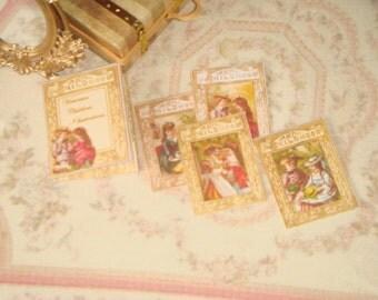 Dollhouse Vintage Children folder with illustrations. 1:12 Miniature prints for Dollhouses.