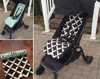 Custom Mountain Buggy Nano Stroller Liner - Reversible - pick your fabric (pram liner - stroller seat cover - buggy liner)