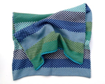 Baby blanket  - Lambswool & Angora - Hand Made - Unique