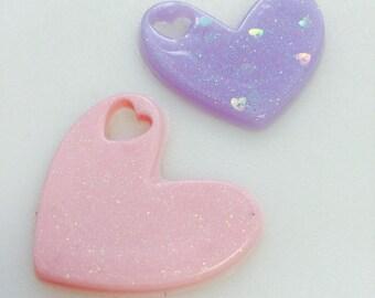 Handmade Resin Kawaii Heart Cabochon