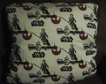 Star Wars: The Force Awakens print throw pillows