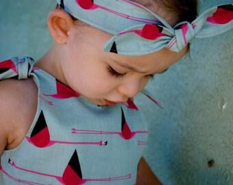 Rosie the Riveter Baby Headband / Toddler Headband / Kid Headband / Pin Up / Retro / 1950s / Flamingo