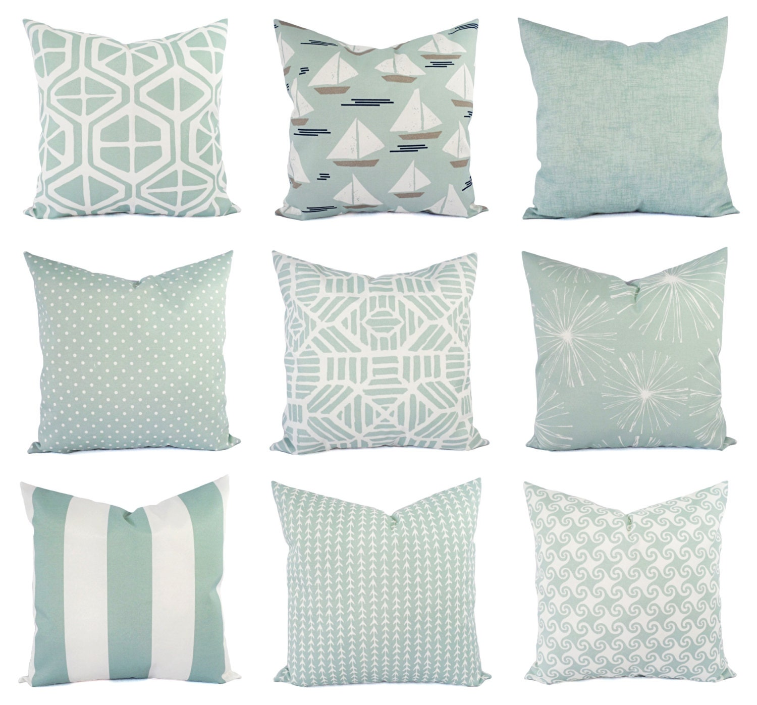 Light Blue Pillow Cover Outdoor Throw Pillow Decorative