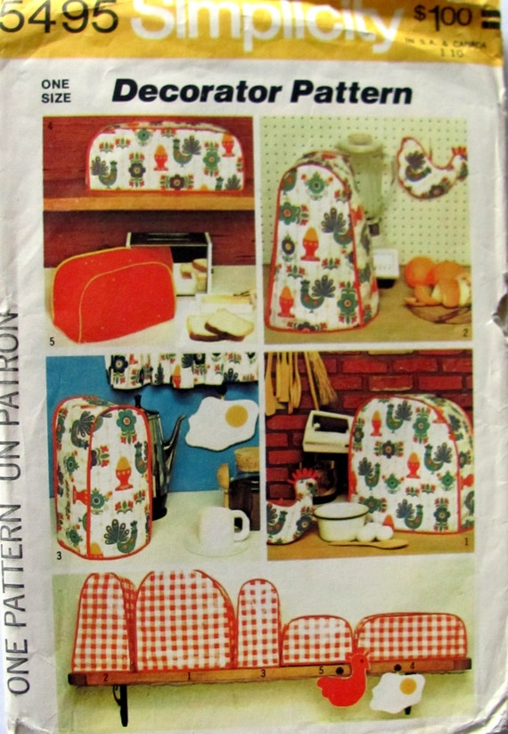 Small Kitchen Appliance Cover Patterns