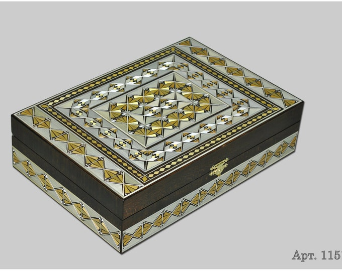 Jewelry box. Casket from Russia. Original gift. #С 1151-35