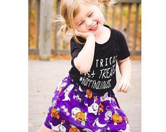 Halloween skirt - Trick or Treat skirt - Halloween Baby skirt.  Toddler skirt.  Halloween outfit - halloween photo prop -Girls skirt.