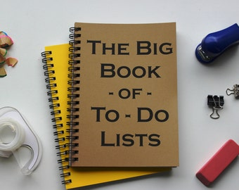 The big book of to-do lists -  5 x 7 journal