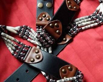 Cowhide leather belt, removable belt,.