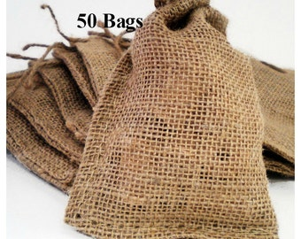 Burlap Bags 4x6 - 50 Ct.