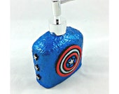 Captain America Soap Dispenser, polymer clay soap pump