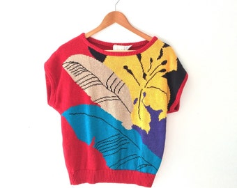 Graphic 80s Novelty sweater top