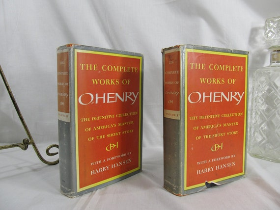 The Complete Works of O.Henry, Volumes I & 2 Complete Set 1953 Doubleday Fiction Book Short Story Harry Hansen Hardcover Humor Irony Tragedy