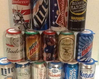 """12 oz """"Cookout Candles""""- candles made in your favorite soda or beer can- great gift for the guy that has everything- choose scent and can"""