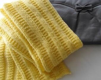 Yellow Scarf No Wool Winter Fashion Vegan Scarf Gift Idea Ready to Ship
