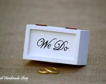 Ring Bearer Box, Wedding Ring Box, Engagement Ring Box, Wedding Ring Pillow, Wedding Ring Holder, White Ring Box