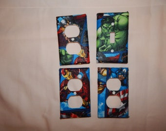 Marvel Avengers Outlet Cover and Switch Plates Set 4 piece Children Nursery