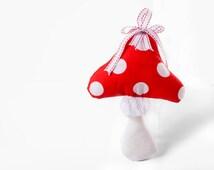 Toadstool Ornament - Mushroom Child's Bedroom Decor - Fairytale - Alice in Wonderland - Christmas Decor