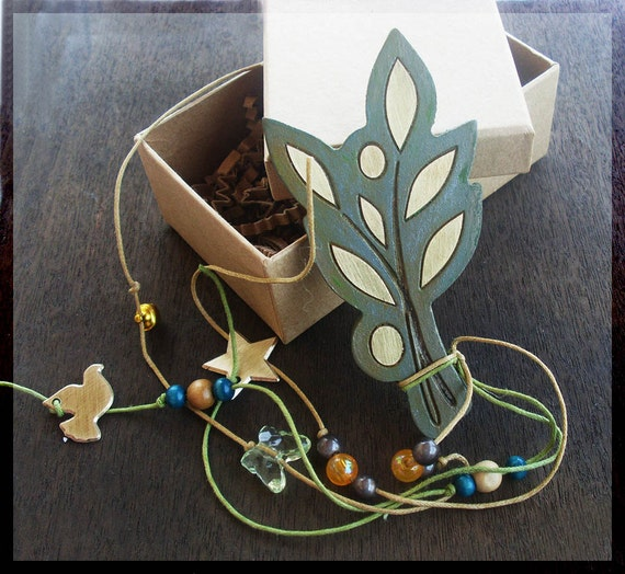 Lucky Charm / OLIVE BRANCH Lucky Charm / Wooden Olive Branch Lucky Charm