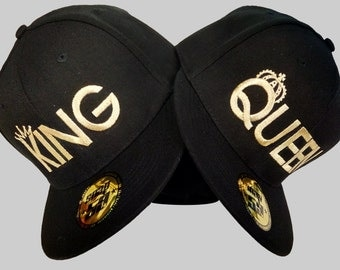 KING QUEEN hats baseball snapback quality custom Summer caps, hats for couples, lovers and friends. Awesome Embroidered caps