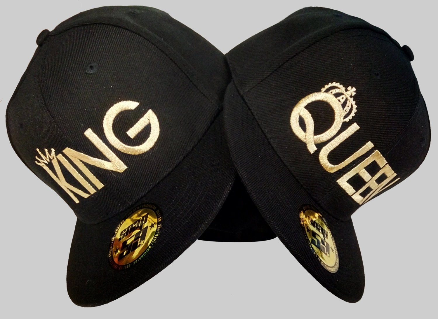 King Queen Hats Baseball Snapback Quality Custom Summer Caps, Hats For  Couples, Lovers And