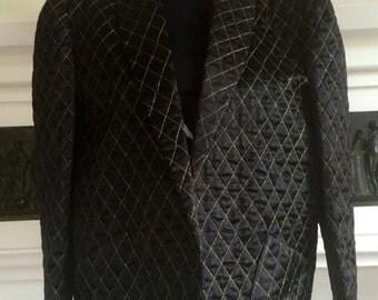 1980's Vintage Cerruti padded lattice jacket with gold detail