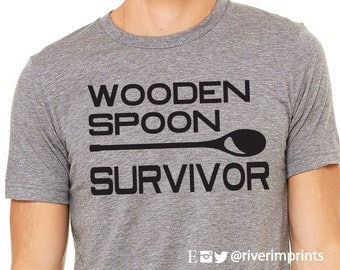 Wooden Spoon Survivor, short sleeve tee shirt, Wooden Spoon Survivor graphic t-shirt