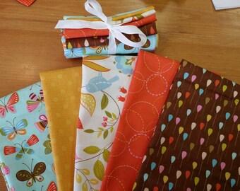 Moda Fat Quarter Bundle Wing and Leaf Gina Martin Fabric Bundle