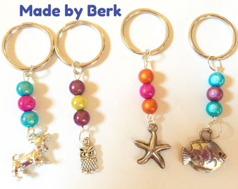 Keychain, Zipper Pull, Key Fob, Purse Charm, Bag Charm