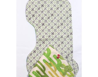 Cactus Grid Burp Cloth Set of 2