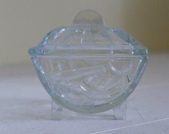 Vintage Art Deco Sunburst Trinket or Jewellery Pot