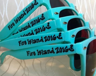 Personalized Fire Island Sunglasses for your bachelorette trip/destination wedding/Spring break/bachelorette party/last night out/girls trip