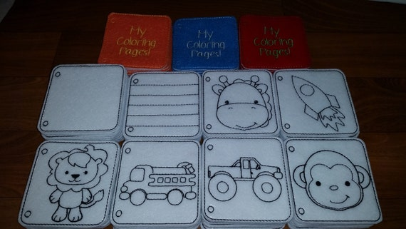 Felt coloring pages dry erase by ashleyssewfun on etsy for Felt coloring pages