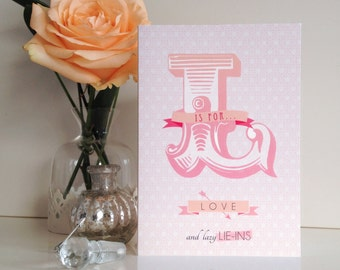 L Is For Love - Valentine's Card