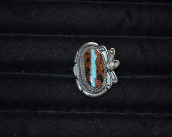 Handmade Sterling Silver and Boulder Turquoise Ring