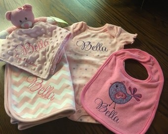 Adorable embroidered  baby essentials