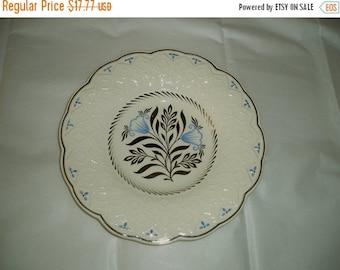Vintage Wedgewood- Wedgewood fine china- vintage Wedgewood china plate- blue white and silver plate- fine china- Wedgewood plate- 8 and half