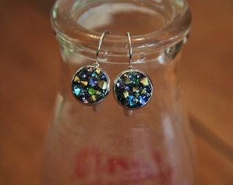 Multicolored Gem Dangle Earrings!