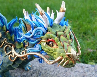 Custom Oriental Dragon Sculpture Made to Order