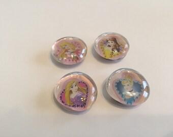 Disney princess magnet set of 4