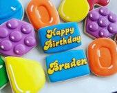 Candy Crush Birthday Cookies