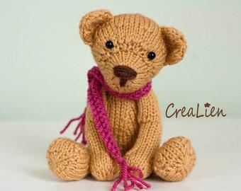 Instant Download! Knitting pattern PDF Teddybear Bella Bear   toy / doll / amigurumi / teddy