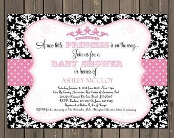 Princess Baby Shower Invitations | Etsy