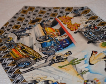 Retro Car Table Runner