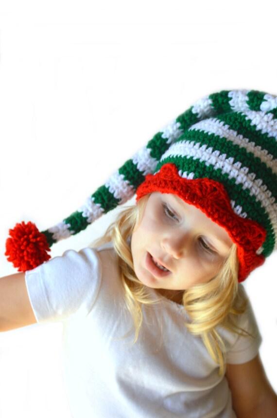 Christmas Elf Hat Gnome Baby Christmas Hat Striped Christmas Santa Hat Christmas Baby Newborn Photo Prop Elf Hat Gnome Hat Newborn to Adult