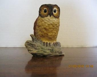 Vintage owl ceramic figurine