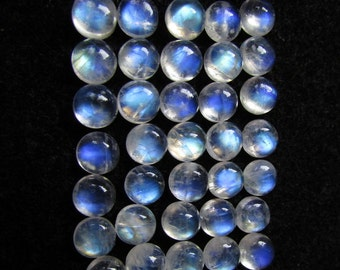 6mm Rainbow Moonstone round cabochon 6mm blue flash rainbow moonstone blue rainbow blue on top best price lot excellent nice quality blue
